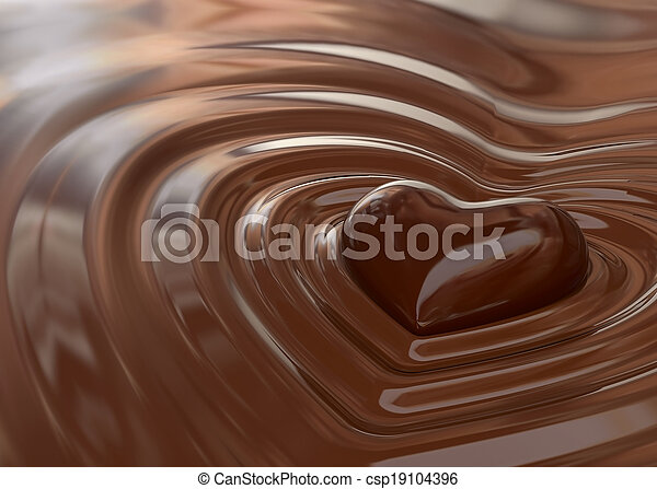 Chocolate heart - csp19104396