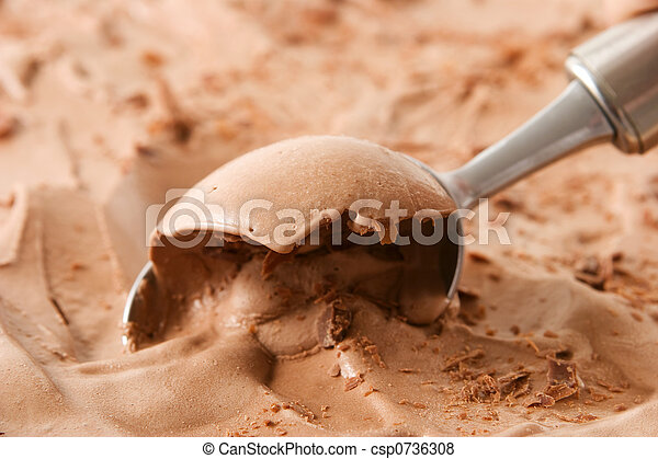 Chocolate ice cream - csp0736308