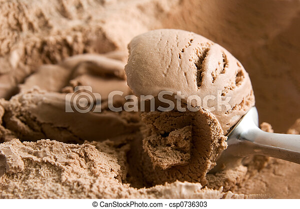 Chocolate ice cream - csp0736303