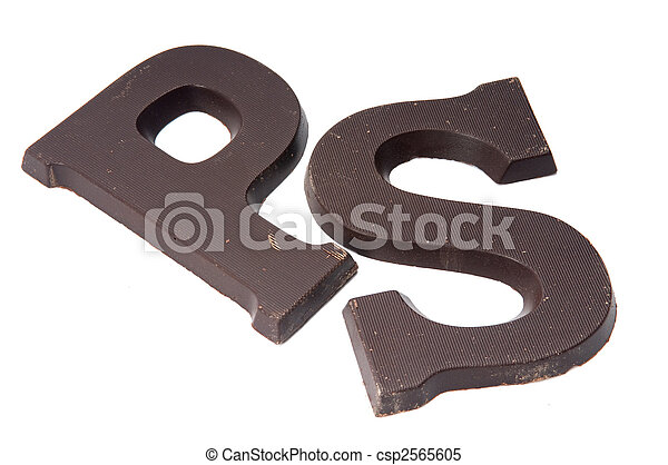chocolate letter p and s csp2565605