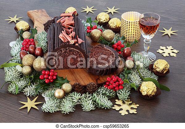 Merry Christmas Christmas Cake Topper Sign Yul Log Decor Decoration