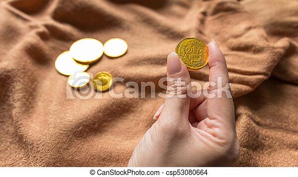 Chocolate money - csp53080664