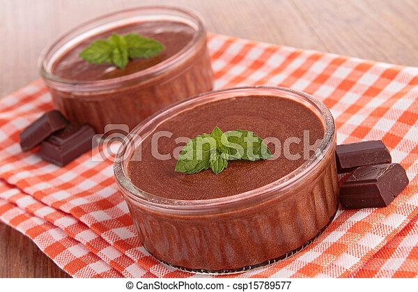chocolate mousse - csp15789577