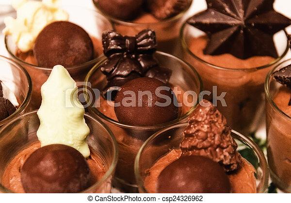 chocolate mousse - csp24326962