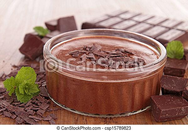 chocolate mousse - csp15789823