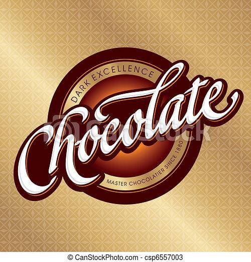 chocolate packaging design (vector) - csp6557003