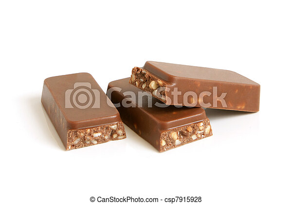 Chocolate pieces with nuts - csp7915928
