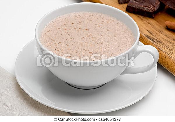 chocolate quente - csp4654377