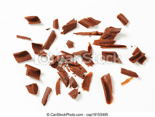 Chocolate shavings - csp19153495
