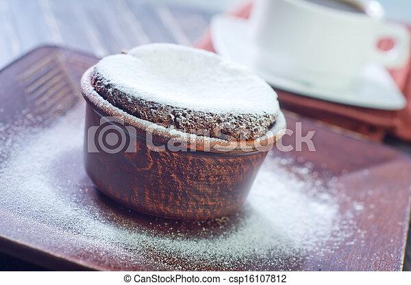 chocolate souffle - csp16107812