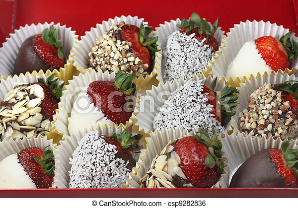 Chocolate Strawberries Box Of Chocolate Covered Strawberries Canstock