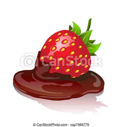 Chocolate Covered Strawberries Drawing Drawing Tutorial Easy