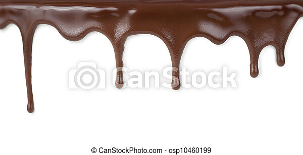 chocolate streams isolated on white - csp10460199