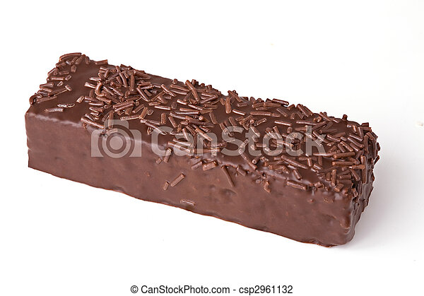 Chocolate wafers isolated on white background - csp2961132