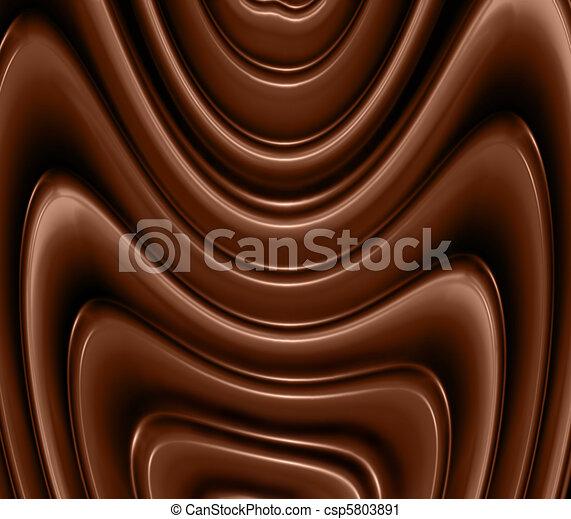 chocolate waves - csp5803891