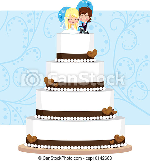Chocolate Wedding Cake - csp10142663