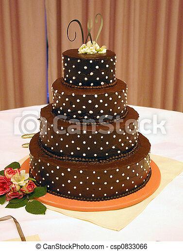 Chocolate Wedding Cake A Decorated