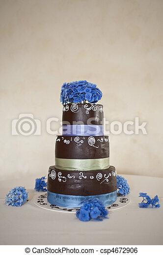 Chocolate wedding cake - csp4672906