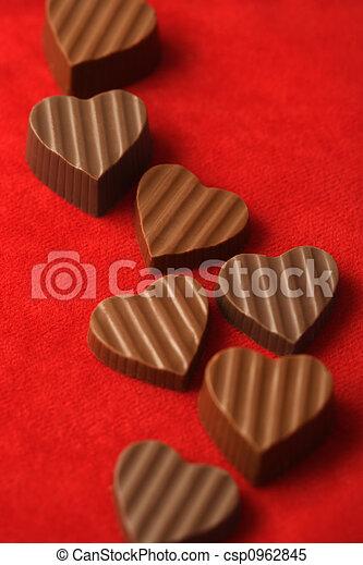 chocolates, día, valentines - csp0962845