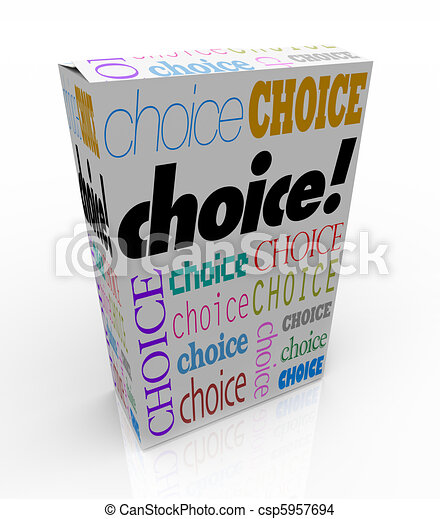 Choice - A Product Box Gives You an Alternative to Choose - csp5957694