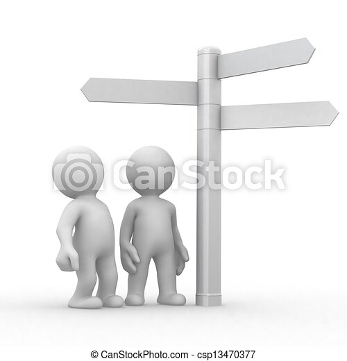 choice and directions signs  - csp13470377