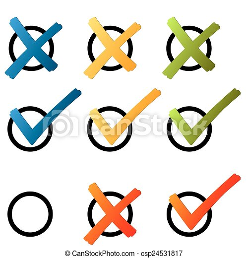 Choice - cross and hook colorful - csp24531817