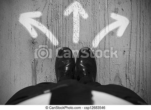 Choices of a businessman - csp12683546