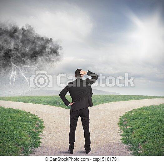 Choices of a businessman - csp15161731