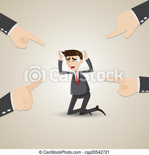 choisi, homme affaires, coéquipier, dessin animé - csp20542721