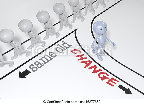 choix, personne, nouveau, aller, sentier, changement - csp16277652