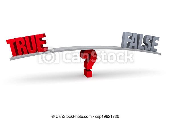 Choosing Between True and False - csp19621720