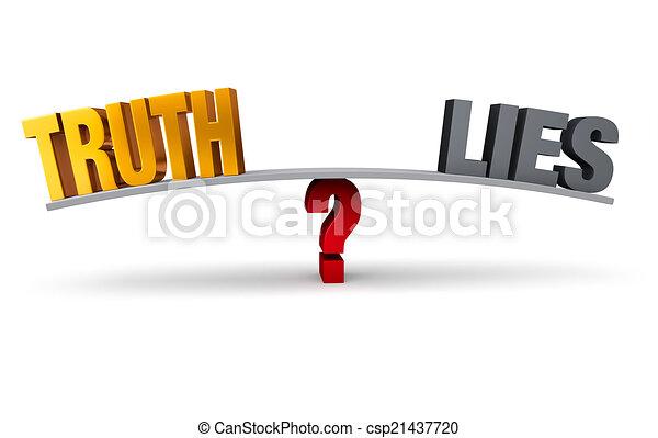 Choosing Between Truth And Lies - csp21437720