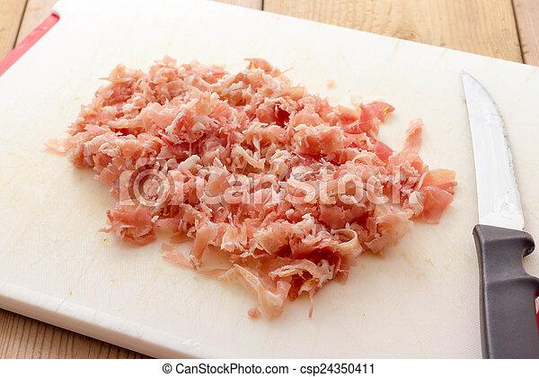 Chopped bacon - csp24350411