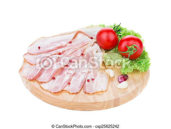 Chopped bacon - csp25625242