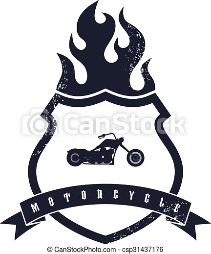 classic chopper motorcycle theme vector art illustration vectors rh canstockphoto com indian motorcycle vector art motorcycle vector art free download