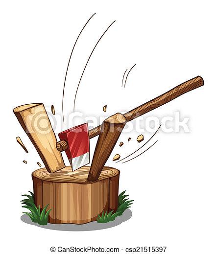 Chopping log - csp21515397