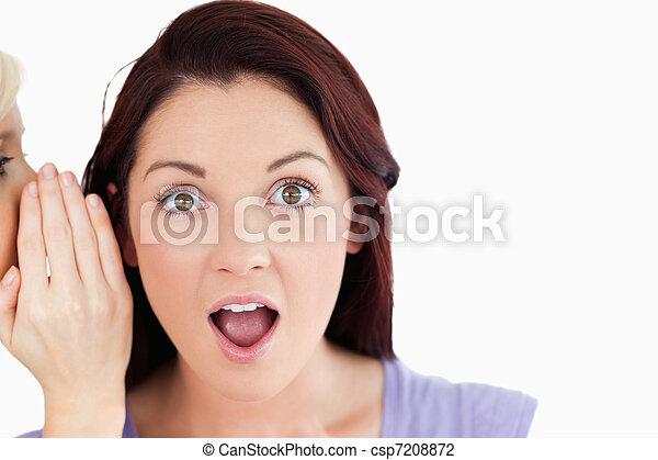 choqué, portrait, dit, femmes, être, top secret - csp7208872