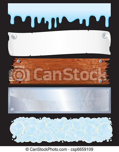 chorągwie, textured - csp6659109