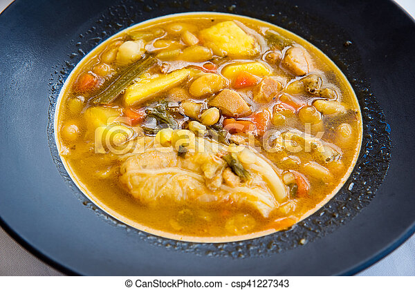 Chorizo soup, spanish cuisine - csp41227343