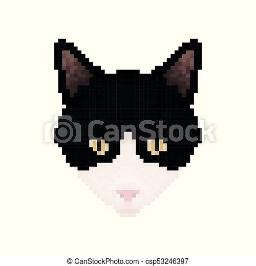 Chouchou Chat Head Animal Pixel Art