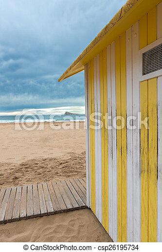 La cabaña de la playa - csp26195734