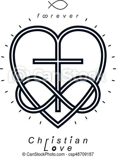 chr tien croyance amour ternel symbole infinit ou conception croix vecteur combin. Black Bedroom Furniture Sets. Home Design Ideas