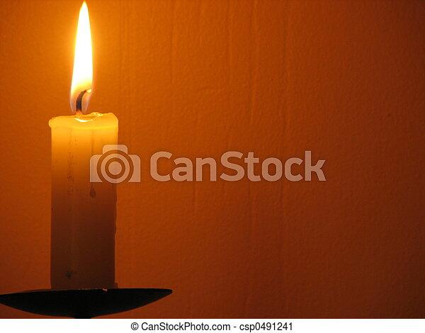 chrismas candle - csp0491241