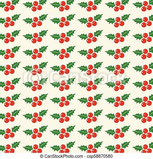 Chrismtas cherries pattern vector - csp58870580