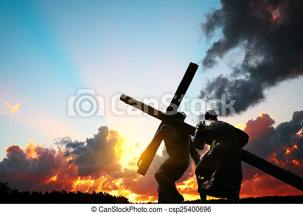 Christ carrying the cross - csp25400696