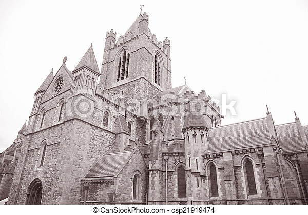 Christ Church Cathedral, Dublin, Ireland - csp21919474