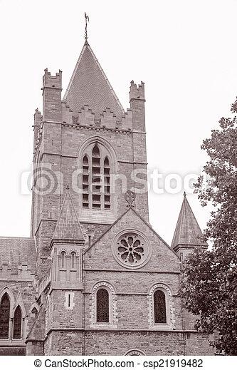 Christ Church Cathedral, Dublin, Ireland - csp21919482