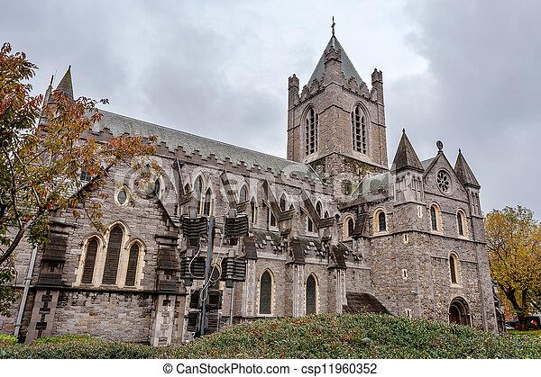 Christ Church Cathedral. Dublin, Ireland - csp11960352