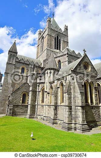 Christ Church Cathedral in Dublin, Ireland - csp39730674