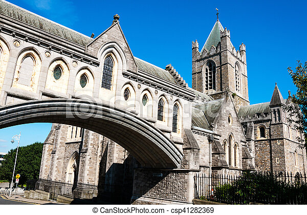 Christ Church Cathedral in Dublin, Ireland - csp41282369